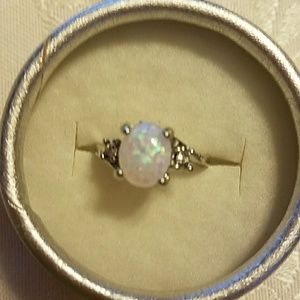 Jewelry - 925 Sterling Silver Opal Ring sz 6
